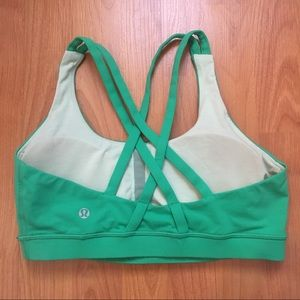 Lululemon Complete Focus Green Sports Bra Size 8